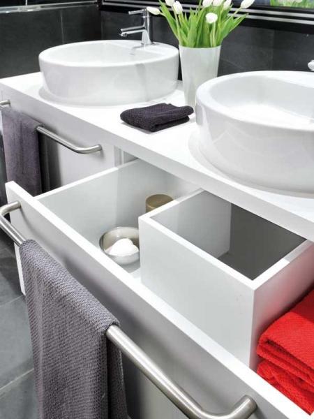 Черно-белая ванная комната - идеи дизайна2