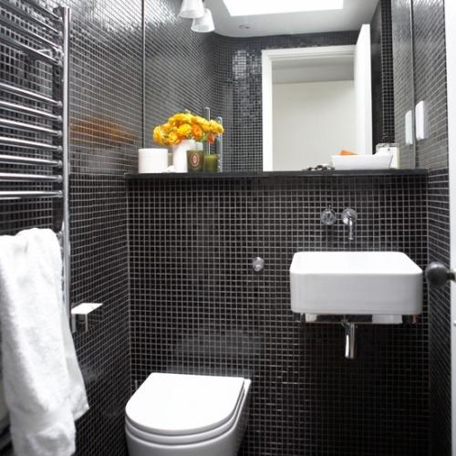 Черно-белая ванная комната - идеи дизайна3