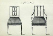 Дизайн стульев. Шератон, 1793